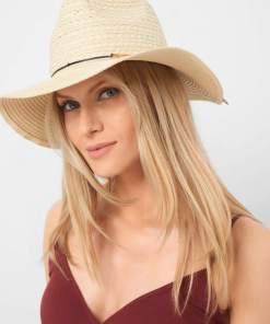 Pălărie de paie Bej