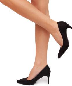 Pantofi dama Alffa catifelati stiletto Negru