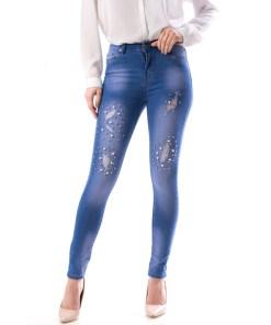 Jeans Dama Nwe129 Albastru