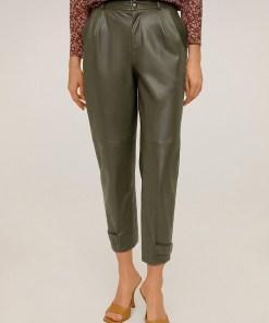 Mango - Pantaloni de piele Willy UPYK-SPD00Z_82X