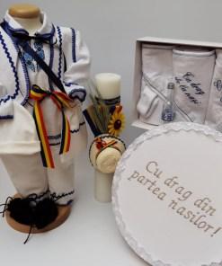 Set Traditional Botez - Costumas baietel Trusou Cutie pentru trusou Lumanare 2