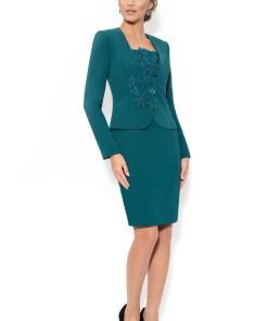 Costum cu rochie 9311 verde
