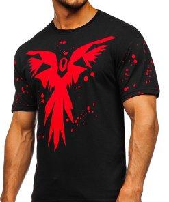 Tricou negru cu imprimeu Bolf 300