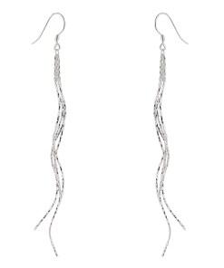 Cercei lungi din argint spiral chains