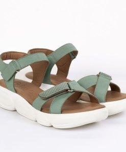Sandale dama din piele naturala Serena verde