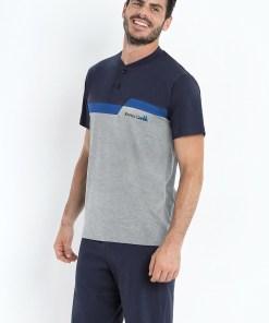 Pijama Basile, gri-albastru