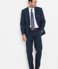 Costum (2piese): sacou și pantaloni - albastru