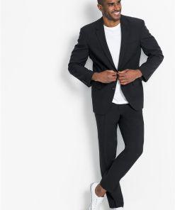 Costum (2piese): sacou și pantaloni - negru