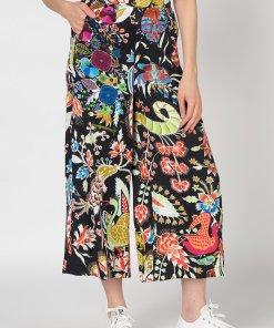 Pantaloni culotte cu croiala ampla Artemisa 2558489
