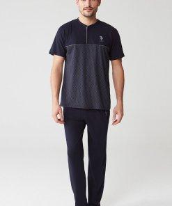Pijama cu logo discret 2837919