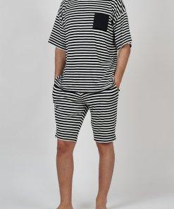 Pijama din amestec de bumbac - cu buzunar pe piept 2838281