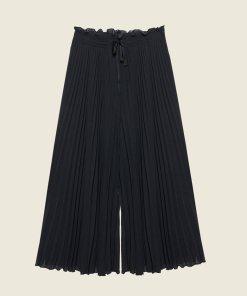 Pantaloni cu croiala ampla si model cu pliuri 2646772