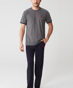 Pijama cu logo contrastant 2837907