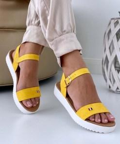 Sandale Dama Athena Galben