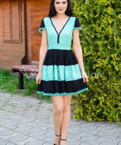 Rochie Ella Collection Law Enforce Mint