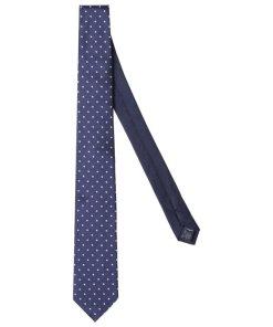 Cravată Tommy Hilfiger Tailored Bleumarin