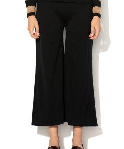 Pantaloni crop de lana cu croiala ampla Canoa 1368478