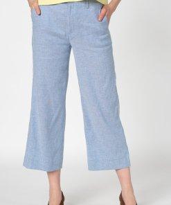 Pantaloni capri din amestec de in - cu croiala ampla 2559299