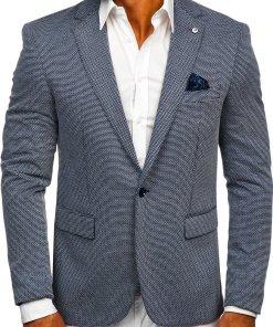 Sacou bleumarin casual bărbați Bolf SR002