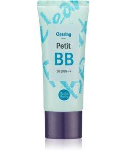 Holika Holika Petit BB Clearing crema BB matifianta pentru tenul gras, predispus la acnee HLKPBBW_KPSR03