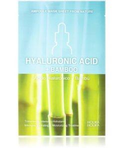 Holika Holika Ampoule Mask Sheet From Nature Hyaluronic Acid + Bamboo masca de celule cu efect hidrantant si hranitor HLKAMSW_KMSK01