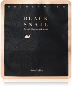 Holika Holika Prime Youth Black Snail mască intensă cu hidrogel HLKBLSW_KMSK01