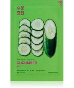 Holika Holika Pure Essence Cucumber masca de celule cu efect calmant pentru piele sensibila cu tendinte de inrosire HLKPUEW_KMAK50