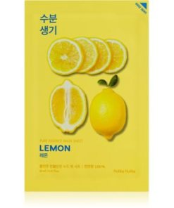 Holika Holika Pure Essence Lemon masca de celule cu efect balsamic si revigorant cu vitamina C HLKPUEW_KMSK55