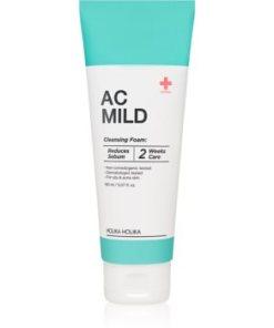 Holika Holika AC Mild Cleansing Foam spuma de curatare ce echilibreaza excesul sebum pentru ten acneic HLKACMW_KMUR05