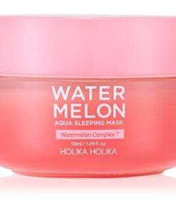 Holika Holika Watermelon Mask masca de noapte intensa pentru regenerarea rapida a pielii uscate si deshidratate HLKWTMW_KFCR01