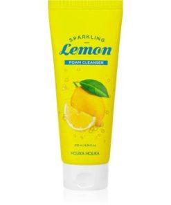 Holika Holika Sparkling Lemon spuma de curatat cu lamaie si lamaita HLKSLMW_KMUR03