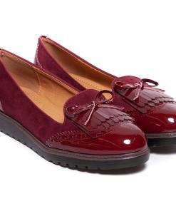 Pantofi dama Arrive cu fundita Visiniu