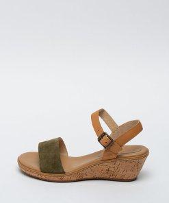 Sandale din piele si piele intoarsa - cu talpa wedge Whittier 2756346