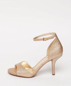 Sandale cu toc inalt si aspect stralucitor Malinda 2775232