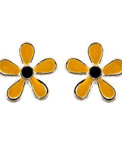 Cercei Argint 925 pentru copii, Fancy Yellow Flower