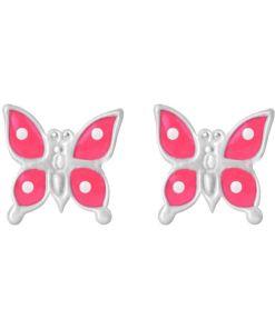 Cercei Argint 925 pentru copii, Delicate Pink Butterfly