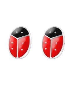 Cercei Argint 925 pentru copii, Little Red Ladybug