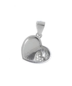 Pandantiv inima argint