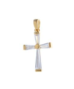 Pandantiv placat cu aur cruce