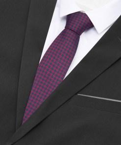 Reserved - Cravată cu imprimeu picior de cocoș - Bordo