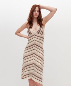 Reserved - Rochie din tricot - Multicolor
