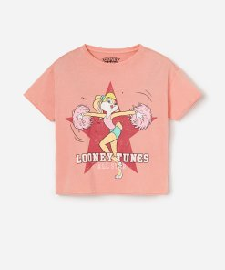 Reserved - Tricou Lola Bunny, din bumbac - Oranj