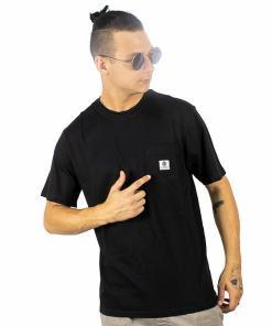 Tricou Basic Pocket Label flint black