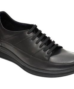 Pantofi OTTER negri, K36, din piele naturala