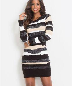 Rochie tricotată - gri