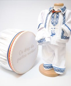 Set Traditional Botez - Costumas baiat Cutie trusou albastru