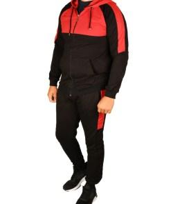 Trening gros vatuit negru cu rosu Style pentru barbat - cod 38766