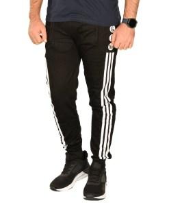 Pantaloni de trening negri cu dungi EM Sport - cod 39979