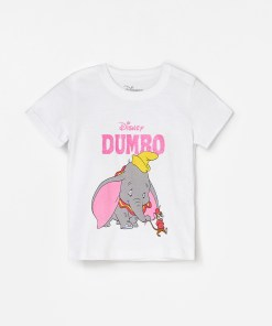 Reserved - Tricou Dumbo, din bumbac - Alb