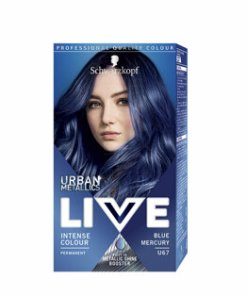 Vopsea de par permanenta Schwarzkopf-Live Color Urban Metallics U67 Blue Mercury, 142,5 ml